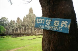 Tourism to heritage sites like Angkor Thom bring great costs as well as benefits (Tess Davis, 2003)