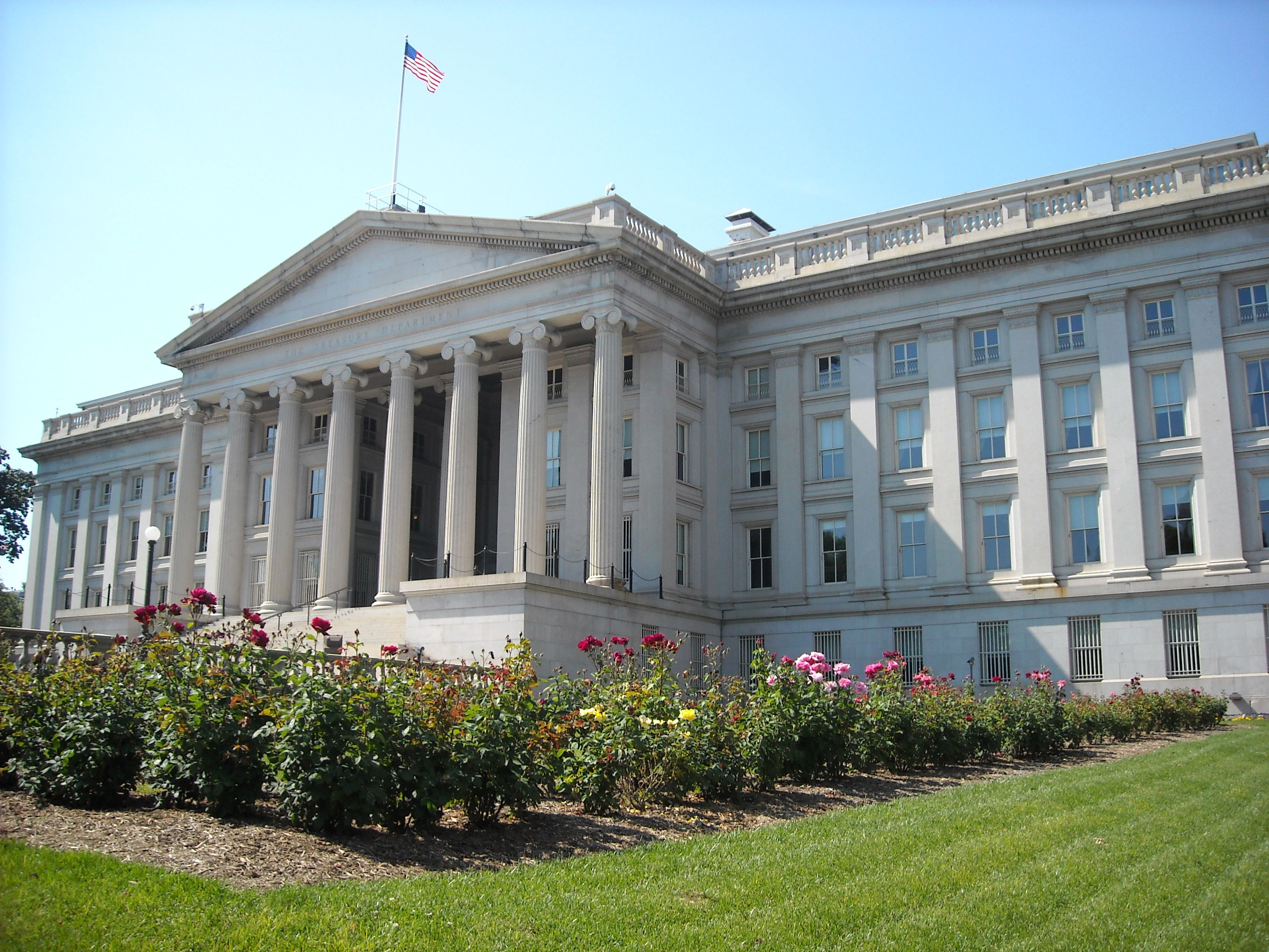 Treasury_Department - credit- wiki commons