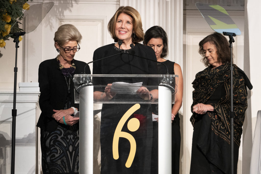 Sherri Westin, President of Global Impact and Philanthropy for Sesame Workshop, accepting the award.