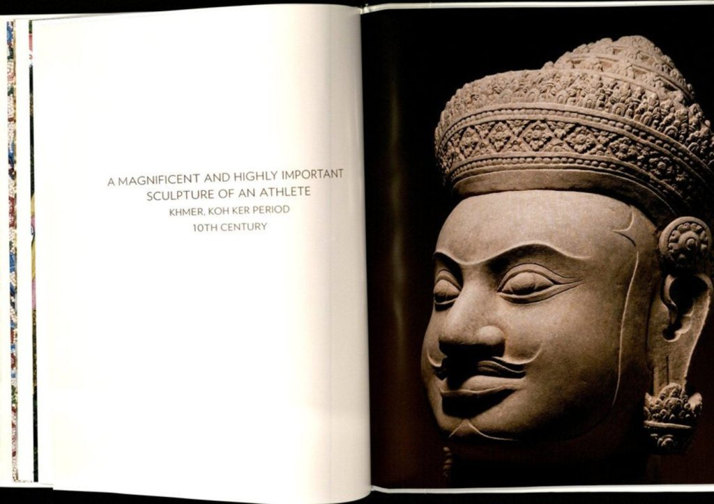 A picture of the Koh Ker Warrior in Sotheby's catalog from March 24, 2011.
