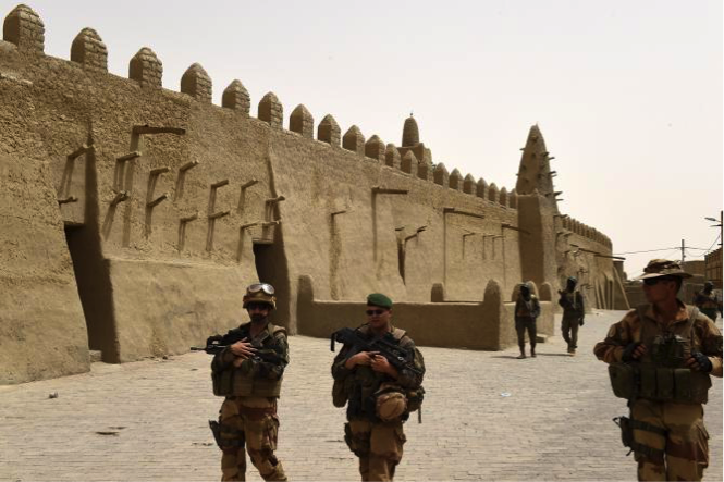 French soldiers patrol Timbuktu, Mali. Photo: Phillippe Desmazes/AFP/Getty Images.