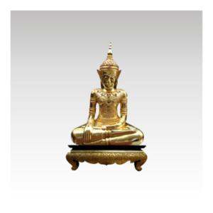 """""""Golden Buddha in Meditation"""" for sale at Artisans d'Angkor"""